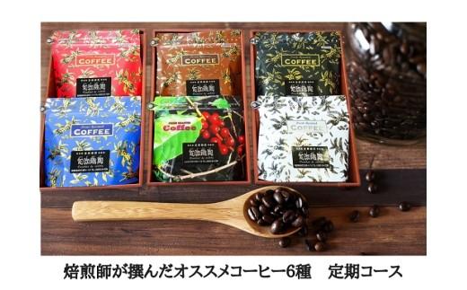 C-26 焙煎師が選んだオススメコーヒー6種定期便【3pt】