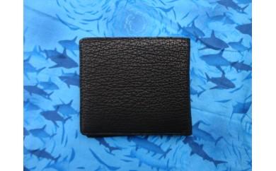 サメ革 二つ折り財布