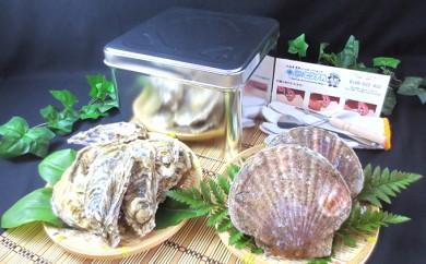 [№5863-0182]ガンガンホタテ牡蠣缶