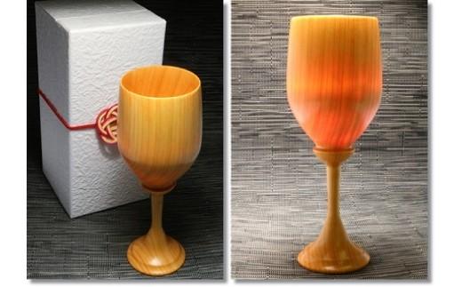 137 檜製のワイングラス
