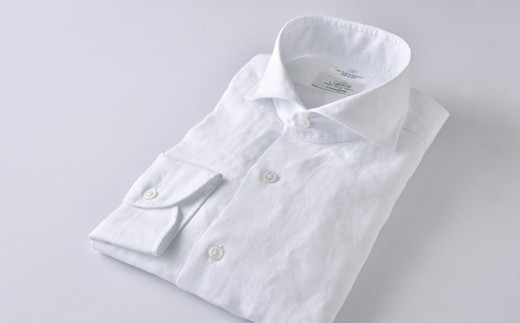 【限定】リネン紳士用 白 HITOYOSHIシャツ