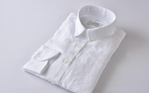 [№5636-0288]【限定】HITOYOSHIリネンシャツ(白)婦人用