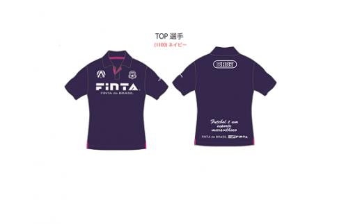 A-111【ザスパクサツ群馬】トップ選手着用ポロシャツ(ネイビー)、好きな選手1名のサイン色紙