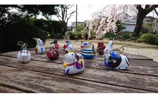 D-38 幸せを願う!のごみ人形/十二支(小)土鈴セット