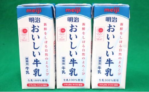 [№5745-0853]明治 おいしい牛乳 紙パック200ml×24本