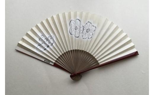 AT03 黒谷扇子「辻が花」女性用(桜・名入れなし)【57500pt】