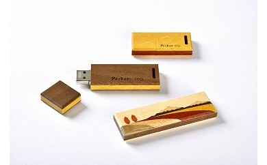 木製USBメモリ 3点セット