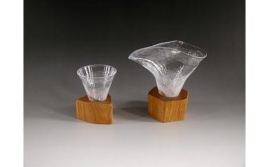 木Glass 酒器セット(片口とグイノミ)