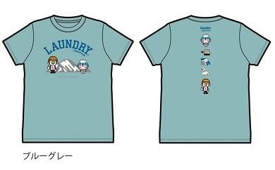 Laundry×おおまぴょんコラボTシャツ【ブルーグレーS】