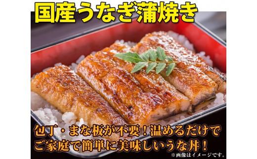 167 国産うなぎ蒲焼きカット3枚セット(70g×3カット)
