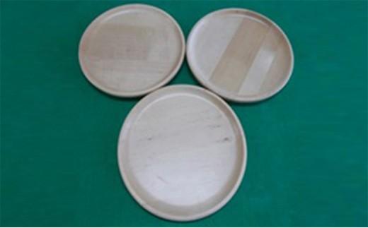 [№5783-0227]木皿 大(月形)・3枚セット