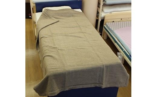 12M07 京都西川カシミヤ毛布四方ヘム シングルサイズ(数量限定)