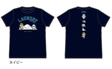 Laundry×おおまぴょんコラボTシャツ【ネイビーS】
