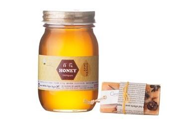 国産蜂蜜 百花×アロマワックスバー