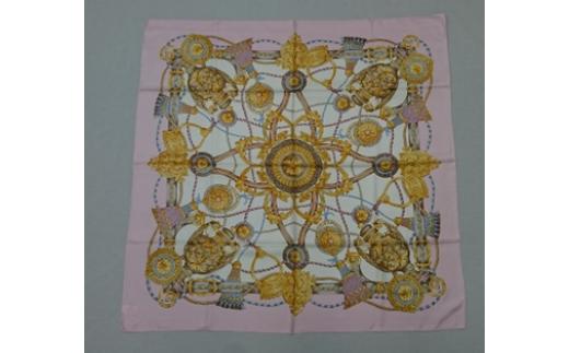 横浜スカーフ「シルク綾スカーフ 88cm角」ピンク