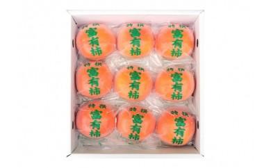 ケーズファーム冷蔵富有柿赤秀3L9個入り