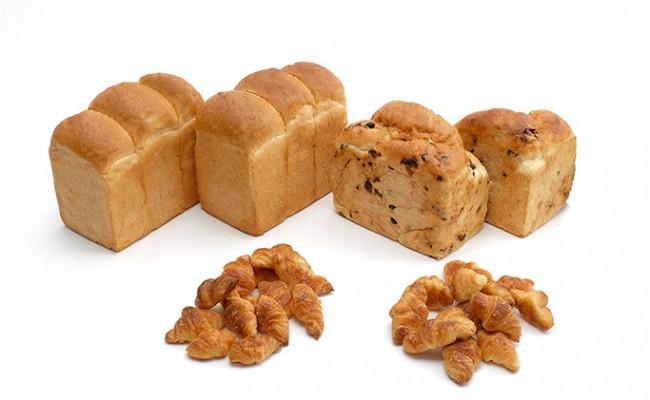 元祖道産小豆パン「あずきちょうだい!」690g×2本、イギリスパン3つ山600g×2本、ミニクロワッサン(プレーン)×2袋