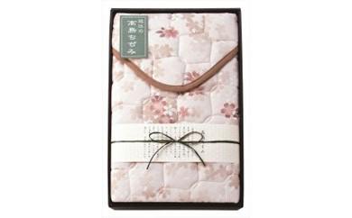 ◆近江高島ちぢみ 敷パッド ピンク