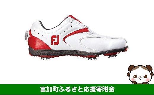 【35005】フットジョイ Boa ゴルフシューズ メンズ EXL ボア【ホワイト/レッド】:配送情報備考 サイズ 26.0cm
