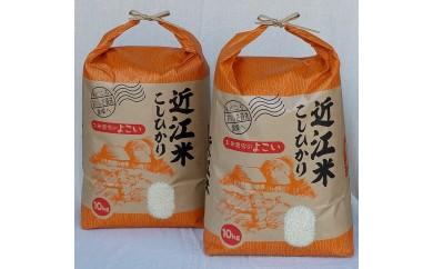 ◆平成29年産 高島市安曇川特別栽培米近江米コシヒカリ 20㎏