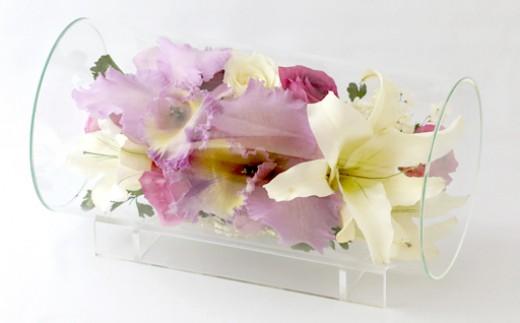 H8 ボトルフラワー✿カトレア(シリンダーL型) 【花の美しさそのまま】