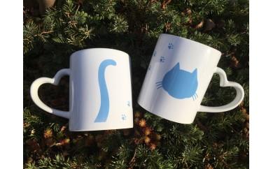【しゅうニャン市ネコ部】しゅうニャン猫ハートマグカップ ペアセット