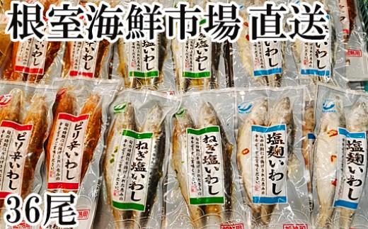 CA-14100 根室海鮮市場<直送>北海道いわし3種(計36尾)