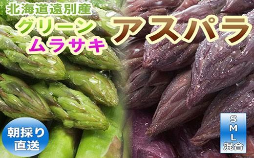 B級品2色アスパラ(グリーン・ムラサキ)
