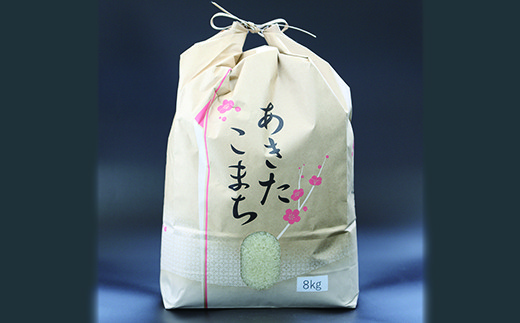 HMG198 【平成29年度産米】立柳農園のあきたこまち白米 8kg