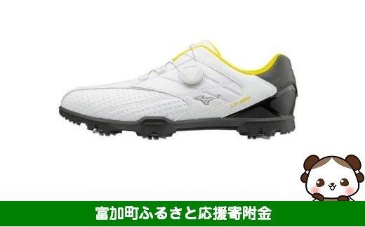 【30025】ミズノ ライトスタイル002 ゴルフシューズ メンズ ボア 【ホワイト/ブラック】:配送情報備考 サイズ 25.5cm