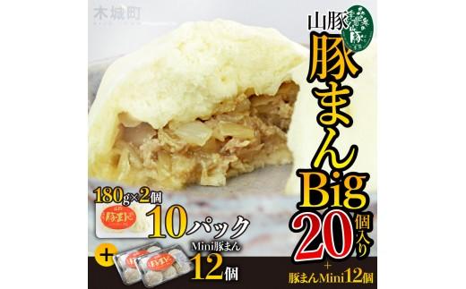 b_018_sn <山豚 豚まんBig20個入り+豚まんMini12個>