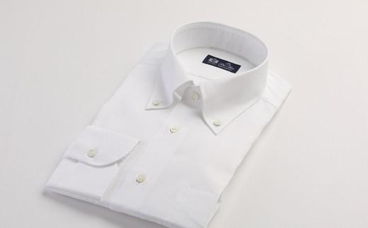 [№5636-0193]HITOYOSHIシャツ(白オックスフォード) 紳士用