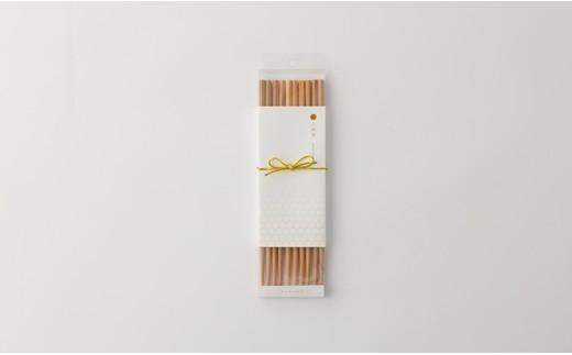 40P6001 六角杉箸5膳セット【40P】