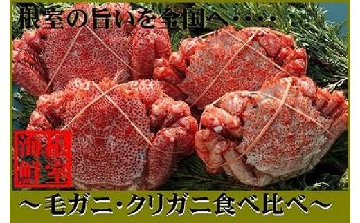 CA-19013 【北海道根室産】毛ガニとクリガニの食べ比べセット