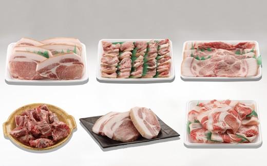 [№5636-0205]昔ながらのこだわり皮付き豚肉(5種 3,500g)