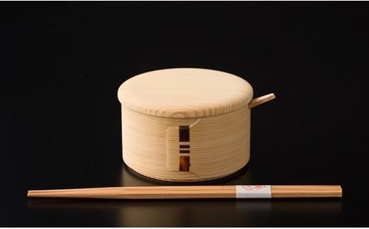 80P6001 白木バターケース(丸)&六角杉箸【80P】