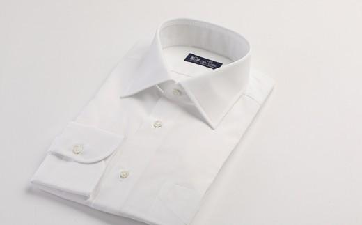 HITOYOSHIシャツ 白ブロード衿SW