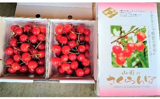 0044-009 さくらんぼ(温室栽培 佐藤錦+高砂)1kgバラ詰め