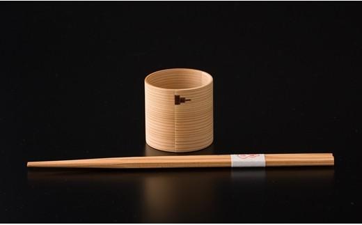 40P6002 白木ぐいのみ&六角杉箸【40P】