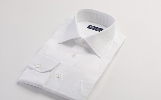 HITOYOSHIシャツ 白ツイル