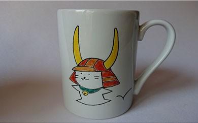 【ひこにゃん】手描きのマグカップ