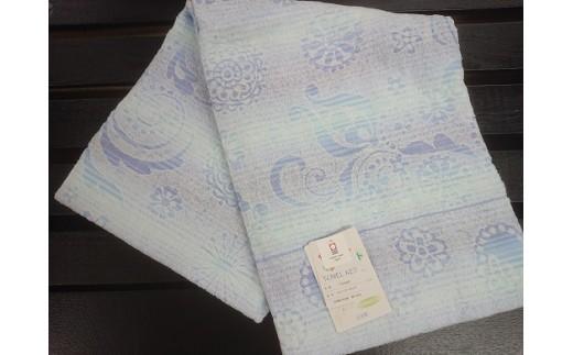 B30-4今治製 タオルケット(ブルー)