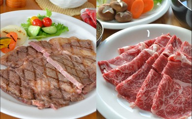 [№4630-0606]【えりも短角牛】ステーキ&すき焼きセット