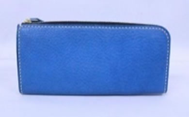 minca/Lジップウォレット/O.S/BLUE