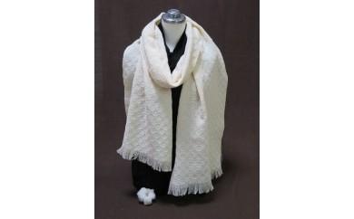 AV07【40000pt】綿畑からそのまま肌に安全・年中使えて洗えるマフラー(大)白【40,000pt】