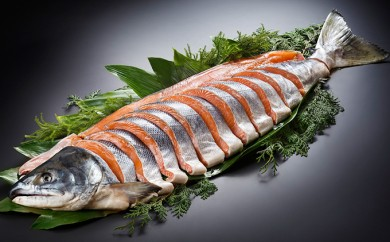 [№4630-0620]北海道産新巻鮭(姿切身)2kg