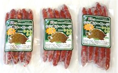 [№5884-0175]豊かな自然の野趣あふれる逸品 シシ肉ソーセージ