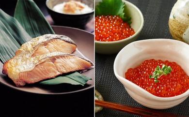 [№4630-0610]塩紅鮭&北海道産いくら醤油漬セット