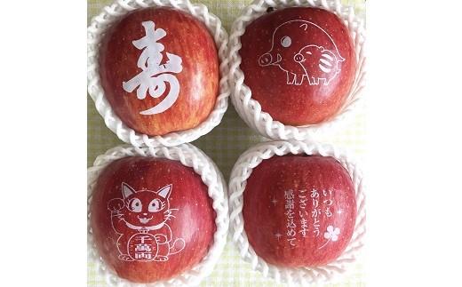0047-105 絵文字りんご(サンふじ)3kg 化粧箱入り