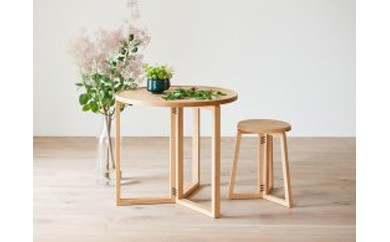 SPAGO Circle Table 070 High oak